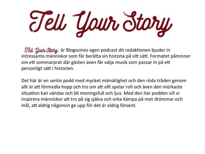 Tell your story premiär