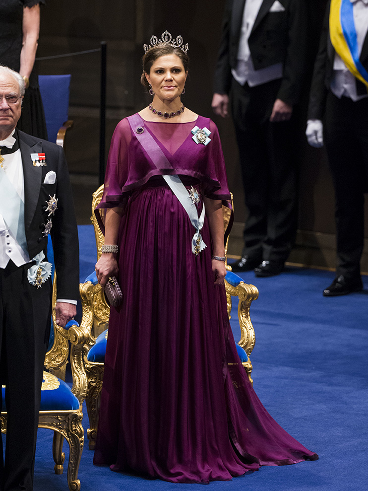 STOCKHOLM 2015-12-10. The Nobel Prize 2015. The Nobel Prize Awards ceremony today took place in the Stockholm Concert Hall, in the presence of the Swedish Royal Family. Picture shows: Crown Princess Victoria COPYRIGHT STELLA PICTURES