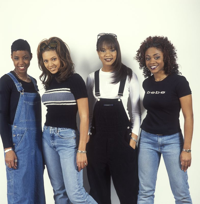 Destinys Child 1998 Beyonce Knowles, Kelly Rowland, LaTavia Roberson, LeToya Luckett