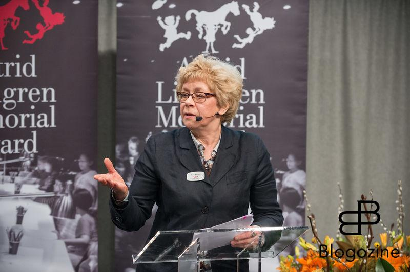 Boel Westin anouce the winner - Meg Rosoff. . In today was the ALMA Award Astrid Lindgren Memorial Award presented at the Royal Library in Stockholm. This year