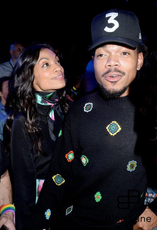 Rosario Dawson and Chance the Rapper attend Kenzo x H&M collection launch at Pier 36 in New York City, NY, USA, on October 19, 2016. Photo by Dennis Van Tine/ABACAPRESS.COM