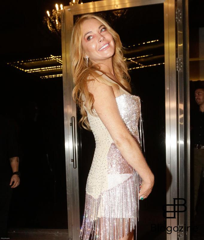 52204286 Lindsay Lohan attends the opening of her new club