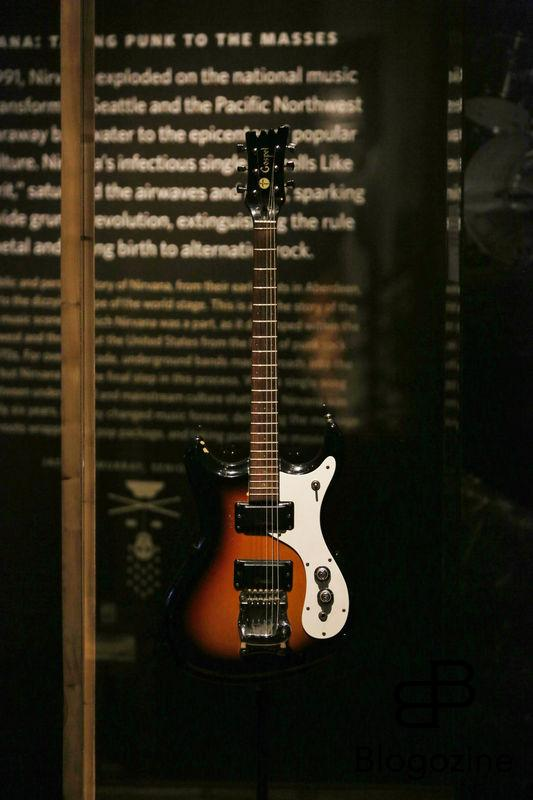 Exclusive... 52206935 General views of the Kurt Cobain exhibit at the Experience Music Pavilion Museum in Seattle, Washington on October 18, 2016. The exhibit is only available for a limited time and showcases some of his favorite guitars and other memorabilia. FameFlynet, Inc - Beverly Hills, CA, USA - +1 (310) 505-9876