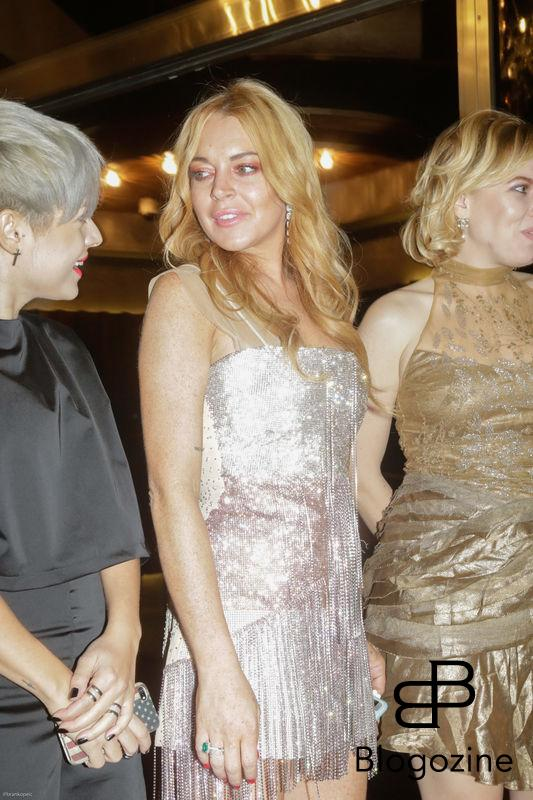 52204277 Lindsay Lohan attends the opening of her new club