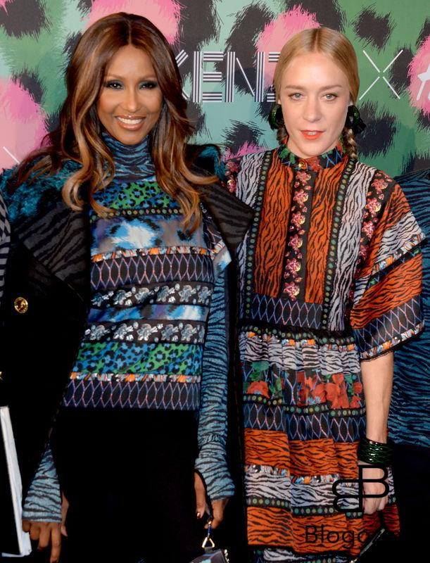 Iman and Chloe Sevigny attend Kenzo x H&M collection launch at Pier 36 in New York City, NY, USA, on October 19, 2016. Photo by Dennis Van Tine/ABACAPRESS.COM