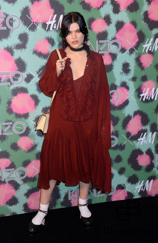 Singer-songwriter SoKo attends Kenzo x H&M collection launch at Pier 36 in New York City, NY, USA, on October 19, 2016. Photo by Dennis Van Tine/ABACAPRESS.COM