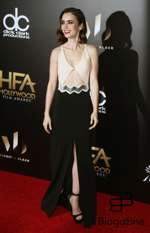 159086, Lily Collins attends The 20th Annual Hollywood Film Awards in Los Angeles on Sunday, November 6th, 2016.Photograph: © Pacific Coast News. Los Angeles Office: +1 310.822.0419 sales@pacificcoastnews.com FEE MUST BE AGREED PRIOR TO USAGE