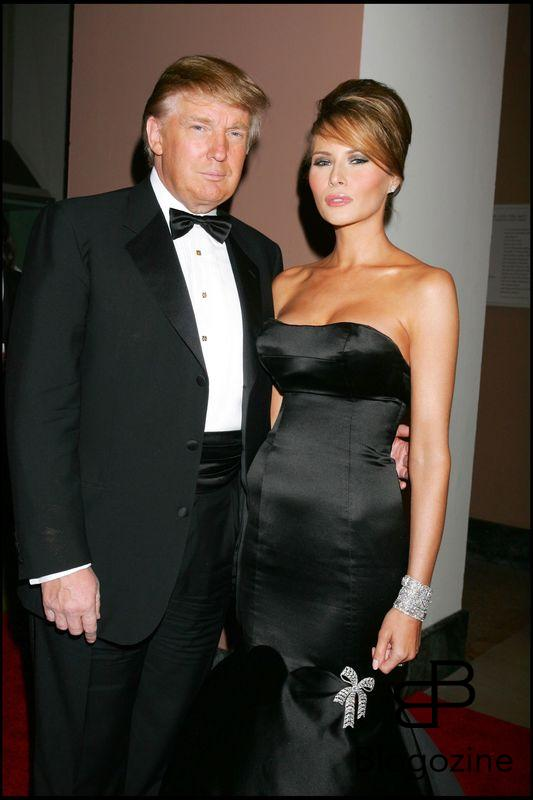DONALD TRUMP ET SA FEMME MELANIA TRUMP - SOIREE DE GALA CHANEL COSTUME INSTITUTE AU METROPOLITAN MUSEUM OF ART DE NEW YORK