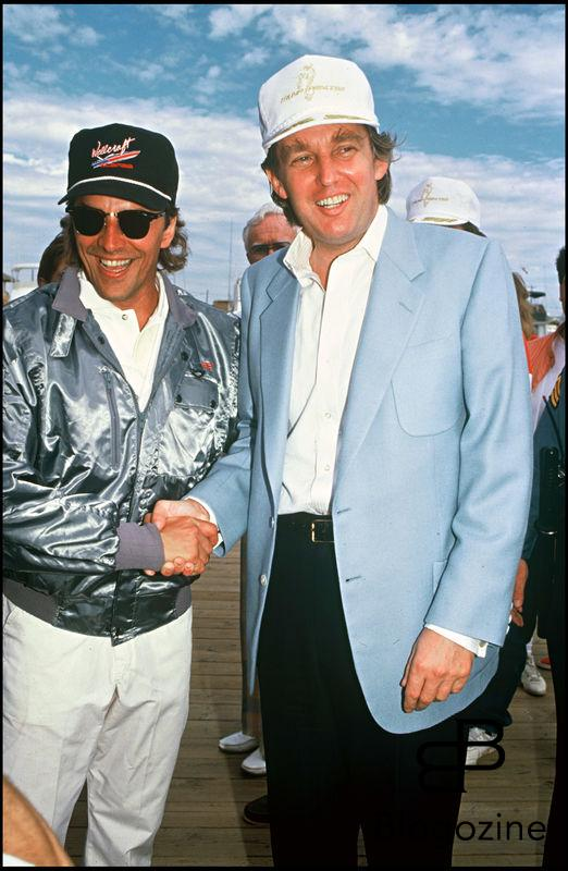 ARCHIVES - DON JOHNSON ET DONALD TRUMP EN 1989