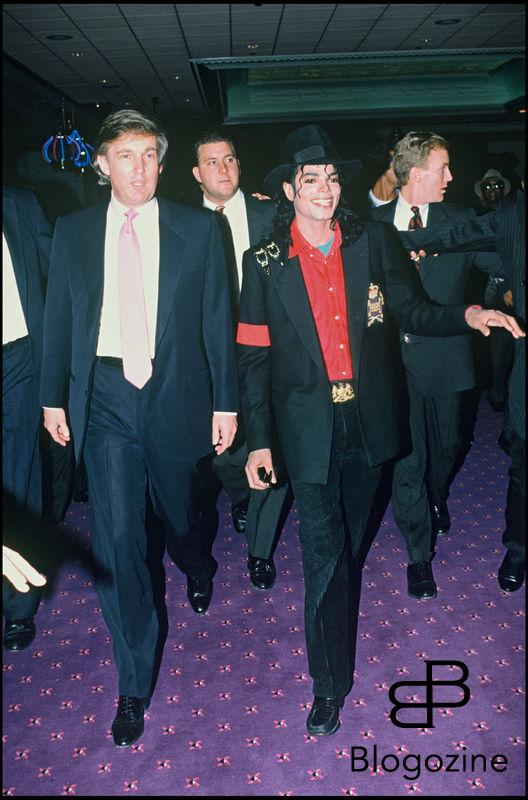 ARCHIVES - DONALD TRUMP ET MICHAEL JACKSON DANS L