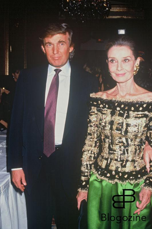 ARCHIVES - DONALD TRUMP ET AUDREY HEPBURN EN SOIREE