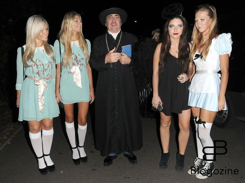 31 October 2016. Celebrities attend the annual Halloween party held at the home of Jonathan Ross. Pictured, Danny Baker Credit: Will/CK/GoffPhotos.com Ref: KGC-172/305
