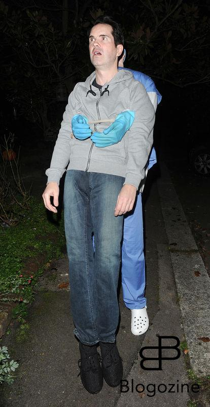 31 October 2016. Celebrities attend the annual Halloween party held at the home of Jonathan Ross. Pictured, Jimmy Carr Credit: Will/CK/GoffPhotos.com Ref: KGC-172/305