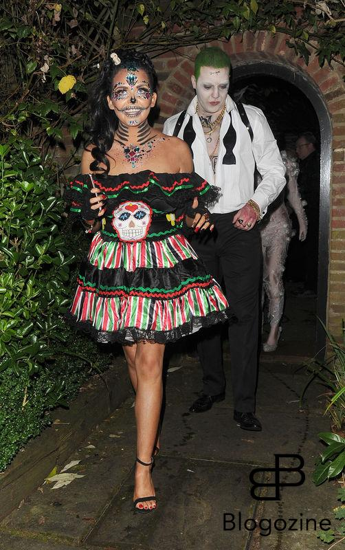 31 October 2016. Celebrities attend the annual Halloween party held at the home of Jonathan Ross. Pictured, Scarlett Moffatt Credit: Will/CK/GoffPhotos.com Ref: KGC-172/305
