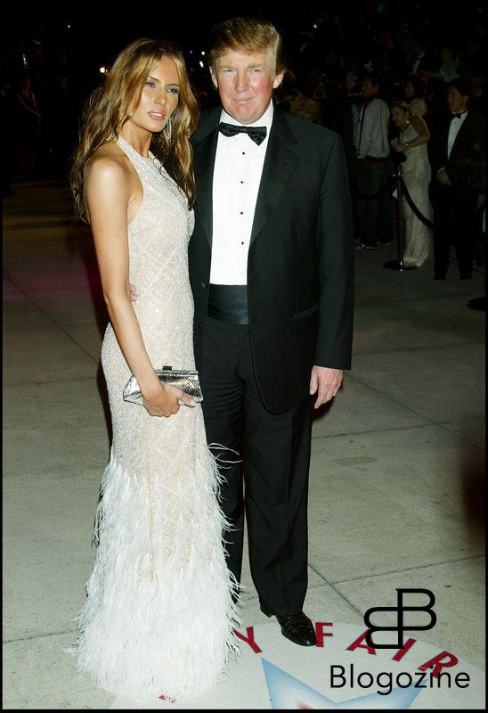 DONALD TRUMP ET SA FEMME ALANIA A LA SOIREE VANITY FAIR APRES LES OSCARS. VANITY FAIR AFTER OSCAR PARTY AT MORTON