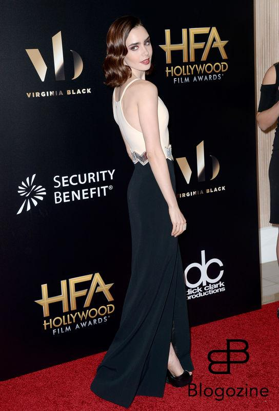 Lily Collins attends the 20th Annual Hollywood Film Awards on November 6, 2016 in Beverly Hills, California. Photo by Lionel Hahn/AbacaUsa.com