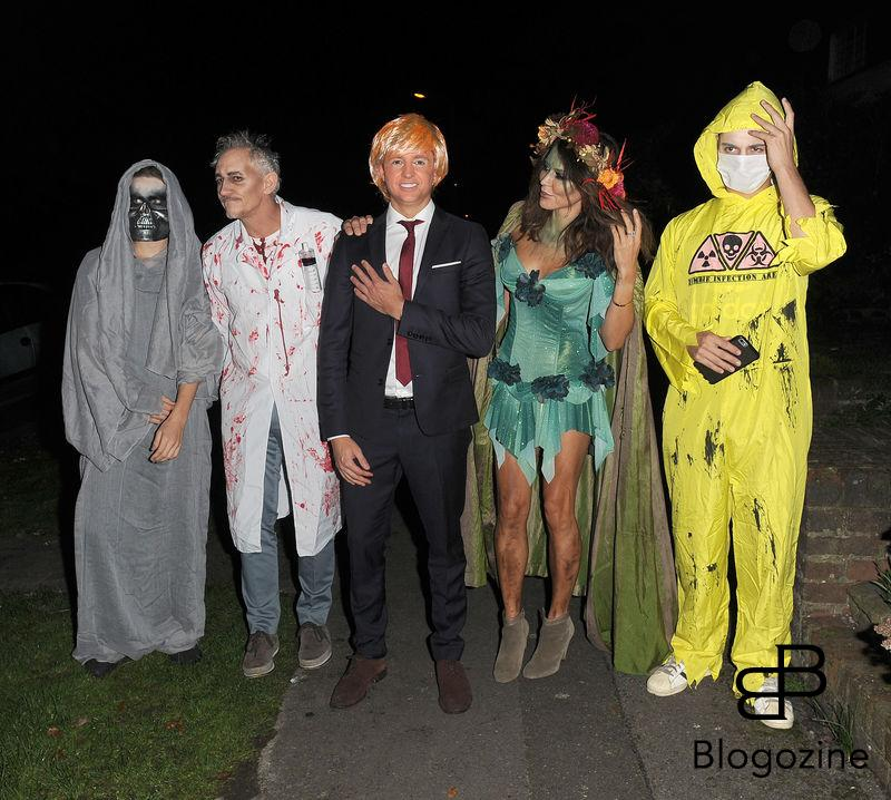 31 October 2016. Celebrities attend the annual Halloween party held at the home of Jonathan Ross. Pictured, Danielle Bux, Gary Lineker Credit: Will/CK/GoffPhotos.com Ref: KGC-172/305