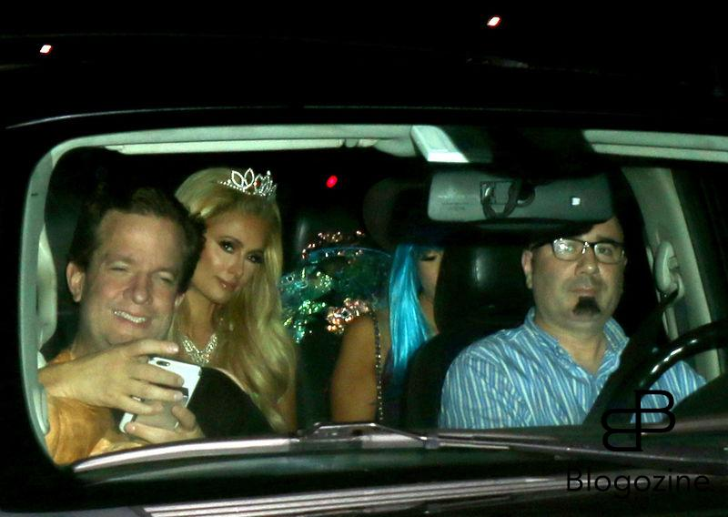 158912, Paris Hilton arrives at Adam Levine