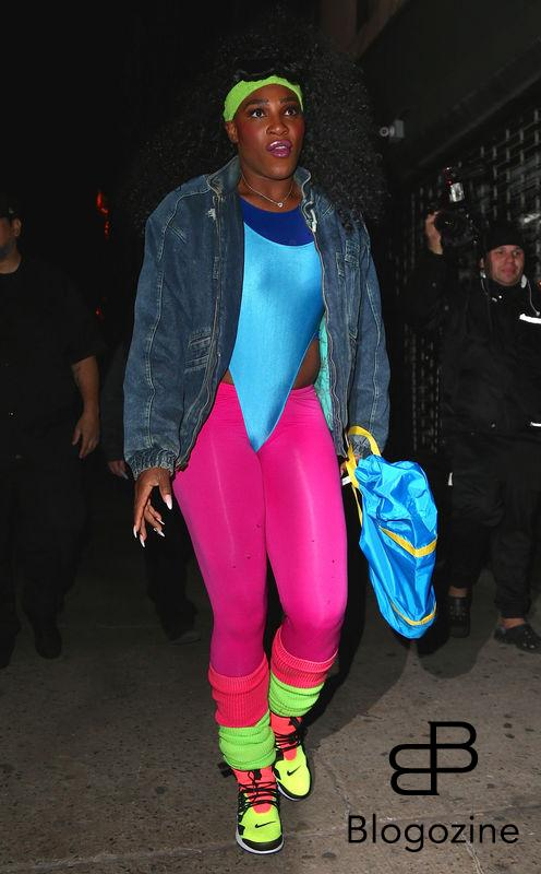 Serena Williams - Les célébrités arrivent à la soirée d'Halloween de Heidi Klum au Vandal club à New York, le 31 octobre 2016 People seen arriving at Heidi Klum